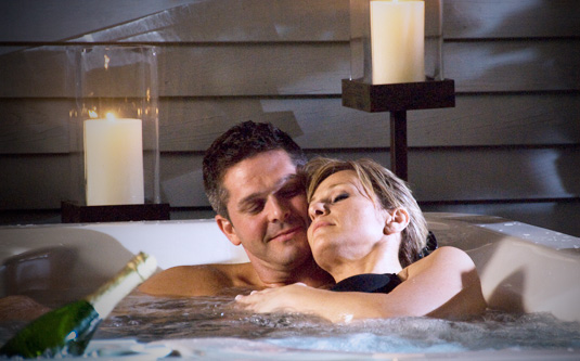 Valentine's Day in the hot tub
