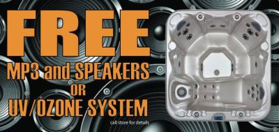 FREE MP3 or UV System on Select IPG Hot Tubs