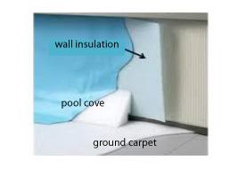 Wall Insulation Aqua Blue Welland