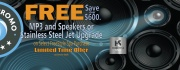 FREE MP3 or S.S Jet Upgrade on Select FREESTYLE SPAS